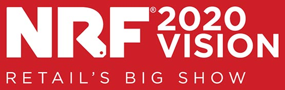 """Red logo that says """"NRF 2019 Retail's Big Show"""