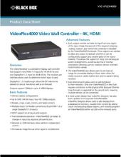 VideoPlex4000 data sheet