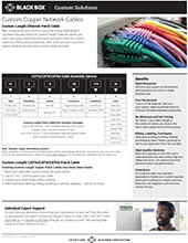 Cut-to-length CAT5e/6/6A Patch Cables