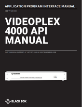 VideoPlex4000 API manual
