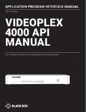 VideoPlex4000 API manual