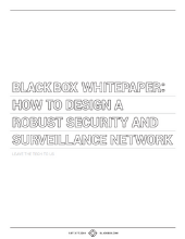 Design a Robust Security and Surveillance Network