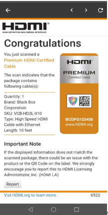 HDMI Email