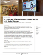 Campus Communication with Digital Signage