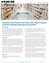 Supermarket- Digital Signage